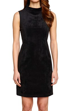 Tahari faux suede dress