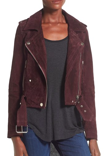 BLANKNYC 'Morning' Suede Moto Jacket