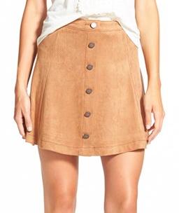Jolt faux suede skirt