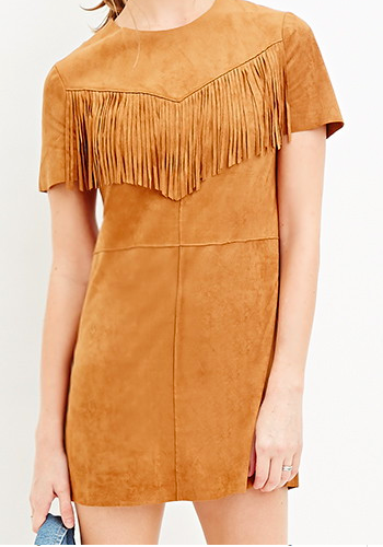 Forever 21 fringe suede dress