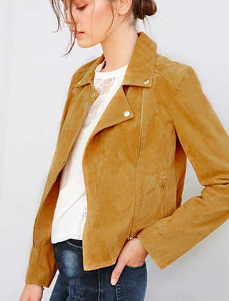 Forever 21 genuine suede jacket