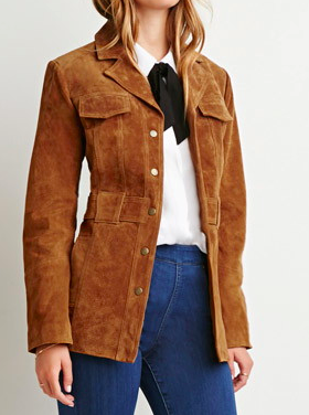 Forever 21 suede button jacket