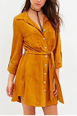 Forever 21 faux suede shirtdress