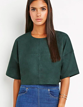 Forever 21 suede crop top