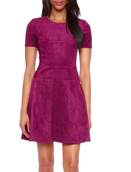 BCBGMAXAZRIA Darra Faux Suede Dress