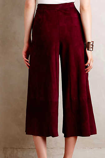 Anthropologie suede culottes
