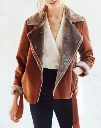 Urban Outfitters suede aviator jacket