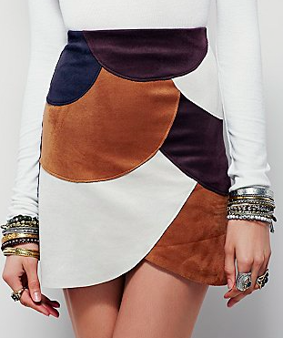 Liberty Garden Retro Patchwork Vegan Mini Skirt