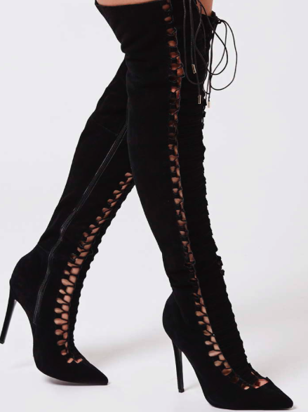 Topshop BEEHIVE Ghillie Over-The-Knee Boots