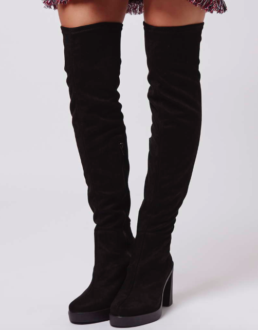 Topshop BARI Stretch Over The Knee Boots