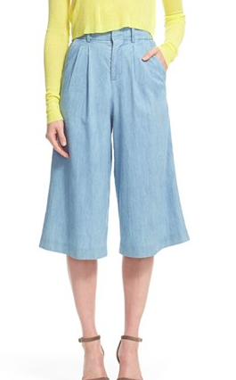 Alice + Olivia 'Ken' High Waist Pleat Gaucho Pants