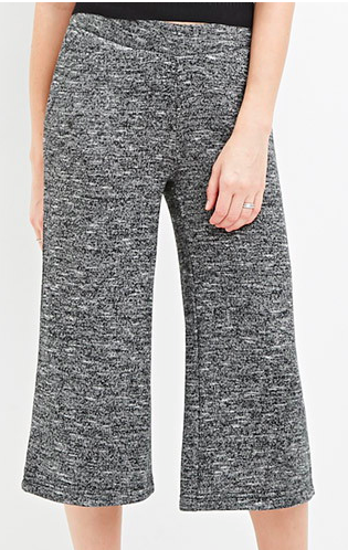 Forever 21 marled knit culottes