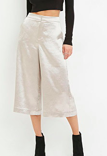Forever 21 satin culottes