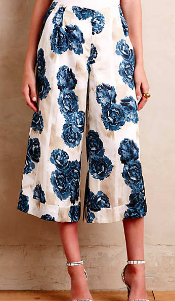 Anthropologie floral culottes