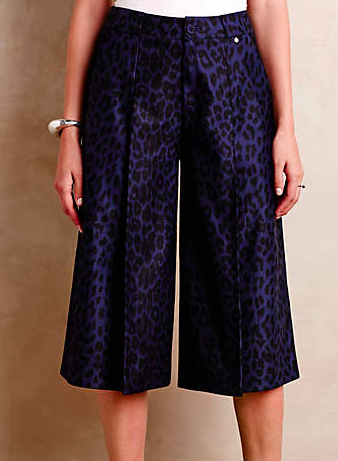 Anthropologie leopard culottes