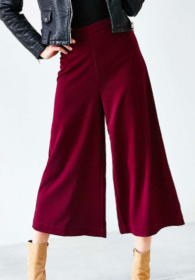 Urban Outfitters red culottes