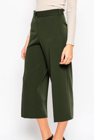 Asos culottes with belt