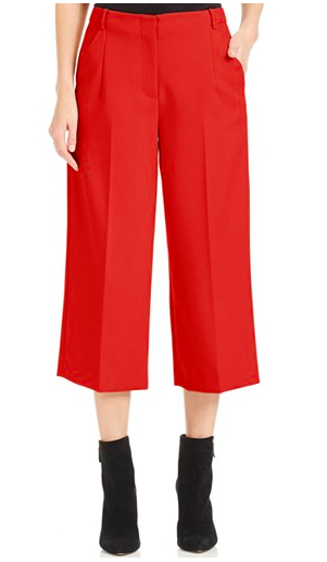 Vince Camuto red culottes
