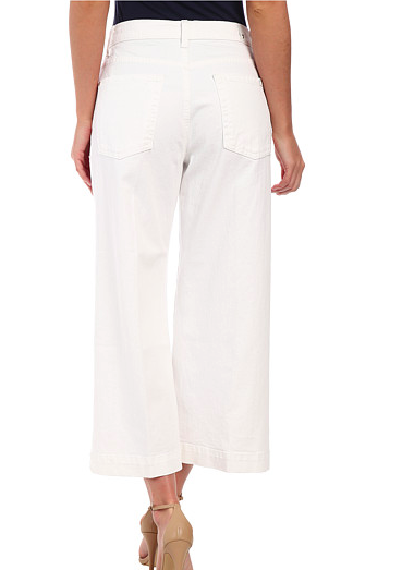 7 For All Mankind Cullotte w/ Trouser Hem in Runway White