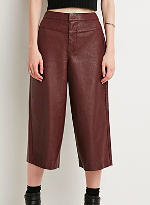 Forever 21 faux leather culottes