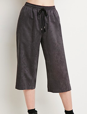 Forever 21 faux suede culottes
