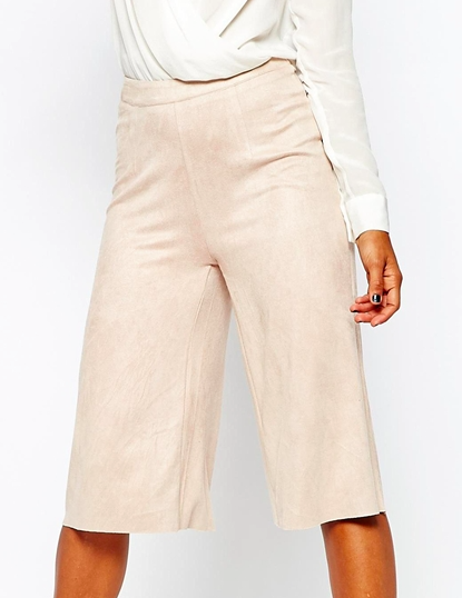 Missguided faux suede culottes
