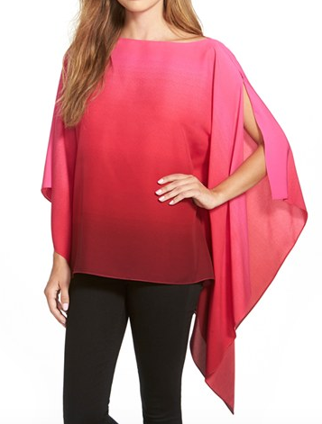 Vince Camuto ombre poncho top