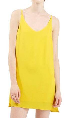 Topshop sleeveless yellow dress