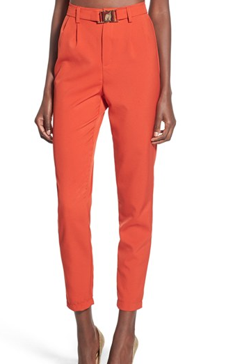MISSGUIDED Belted Crop Trousers
