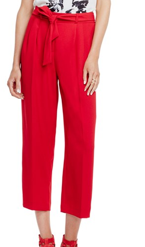 Vince Camuto Front Pleat Soft Belted Pants