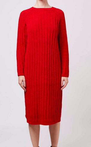 Topshop neon sweater dress