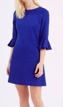 Topshop bright bell sleeve dress