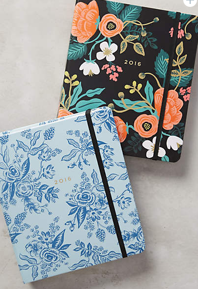 Anthropologie planner notebook