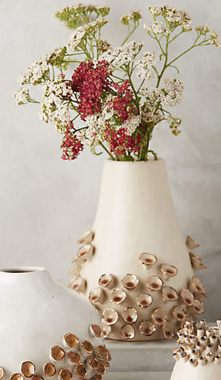 Anthropologie water flora vase