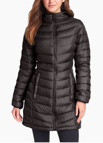 The North Face 'Jenae' Hooded Down Jacke