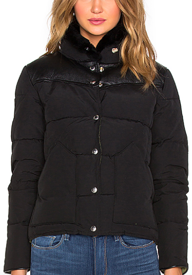 ROCKWOOL LEATHER YOKE DOWN JACKET PENFIELD