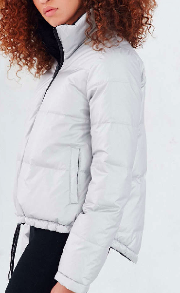 Without Walls Aline Metallic Reversible Down Jacket