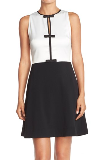 ERIN erin fetherston 'Agnes' Colorblock Stretch Fit & Flare Dress