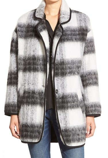 ASTR Two Tone Fuzzy Plaid Jacket