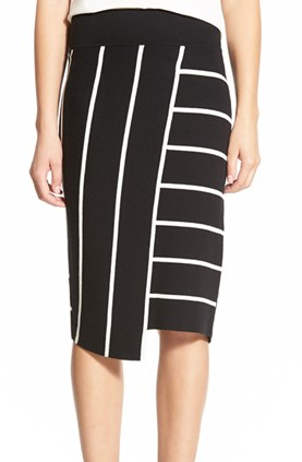 Bailey 44 'Skyline' Stripe Pencil Skirt