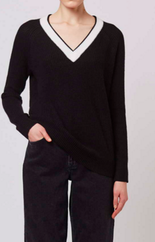 Topshop V-Neck Rib Jumper by Boutique