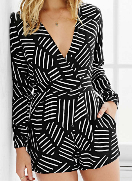 Urban Outfitters black and white romper