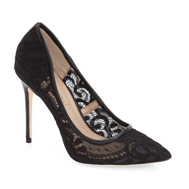 BCBGMAXAZRIA lace pumps