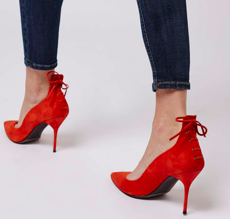Topshop red pumps