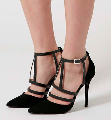 Topshop strappy pumps