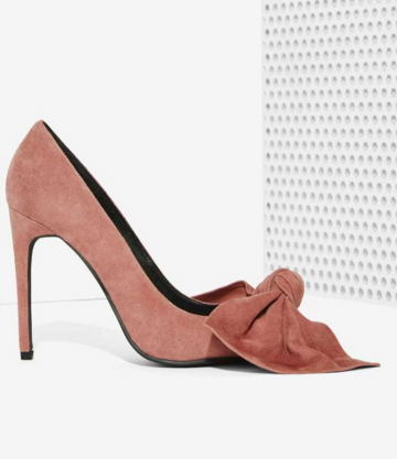 Jeffrey Campbell suede bow pumps