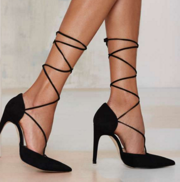 The Mode Collective Olivia Lace-Up Suede Pump
