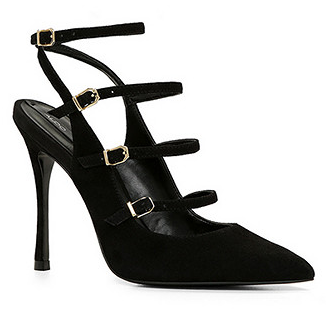 Also strappy buckle pump