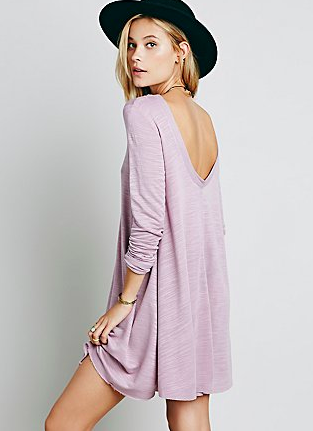 Free People pastel swing dress