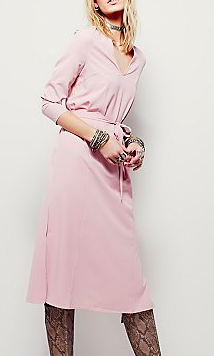 Free People pastel wrap dress